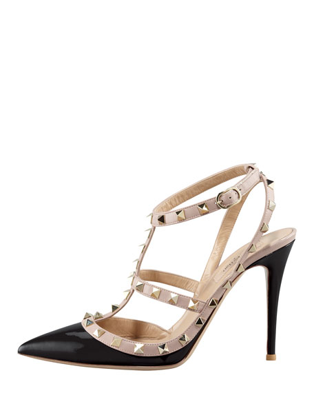 Rockstud Slingback 100mm Pump, Black