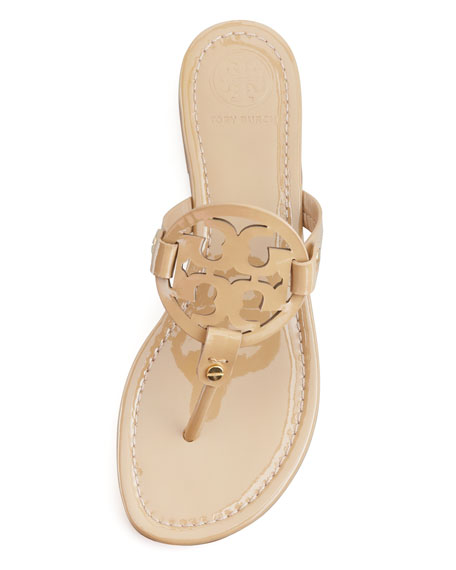 Miller Patent Logo Sandal, Sand
