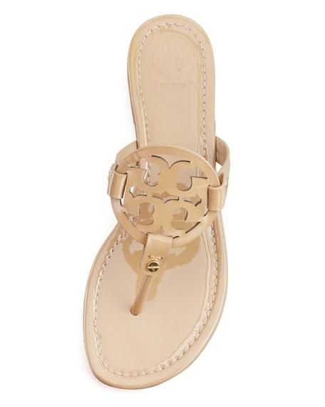 Tory Burch Miller Patent Logo Sandal, Sand