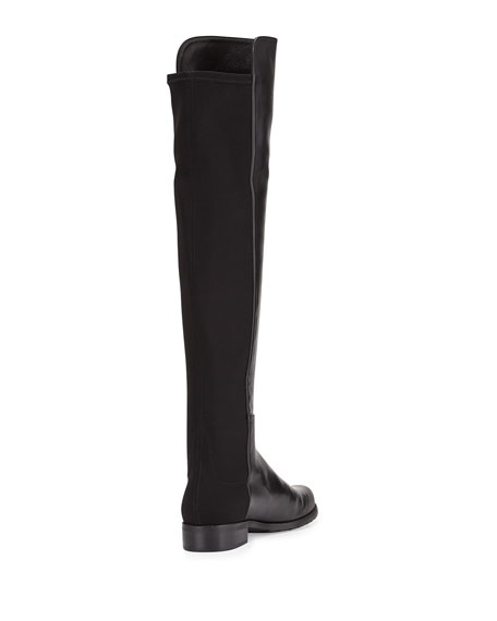 50/50 Narrow Napa Stretch Over-the-Knee Boot, Black