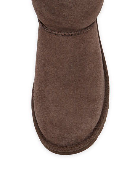 Bailey Button Short Boot, Chocolate