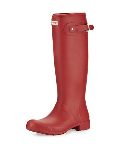 Original Tour Packable Rain Boot, Military Red