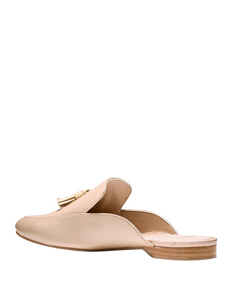Tillary Leather Slip-On Mule, Froth