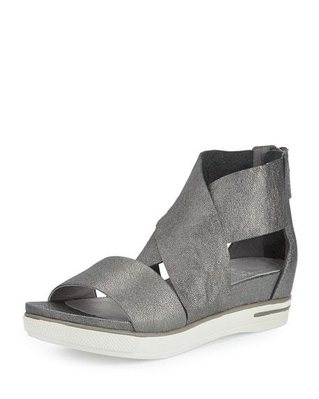 Eileen Fisher Sport Flatform Sneaker Sandal Pewter