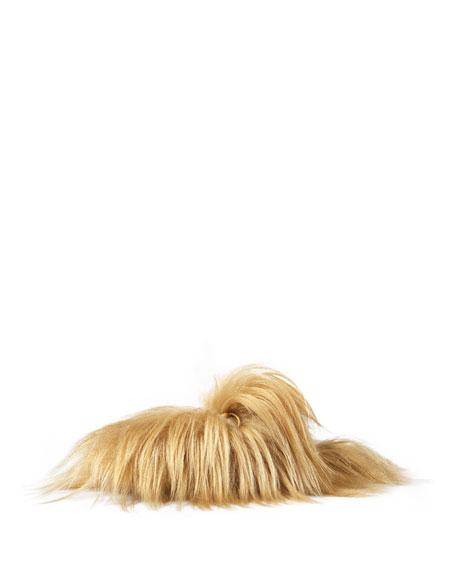 e1c67b9c9 Gucci Princetown Goat-Hair Mule, New Natural | Neiman Marcus