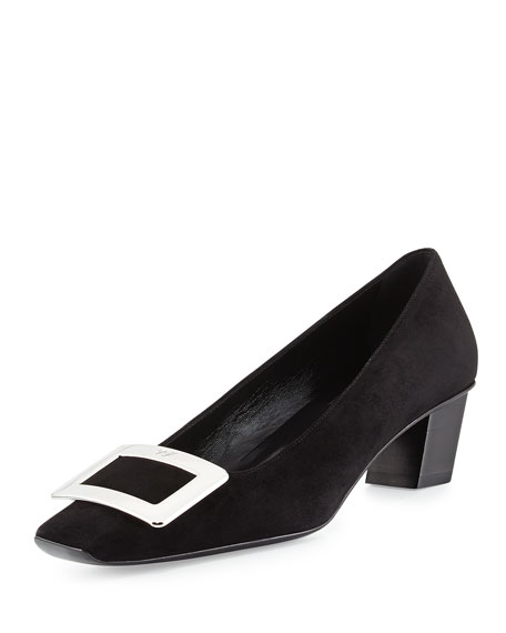 Roger Vivier Decollette Belle Vivier Pump, Black