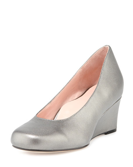 Taijo Napa Leather Wedge Pump