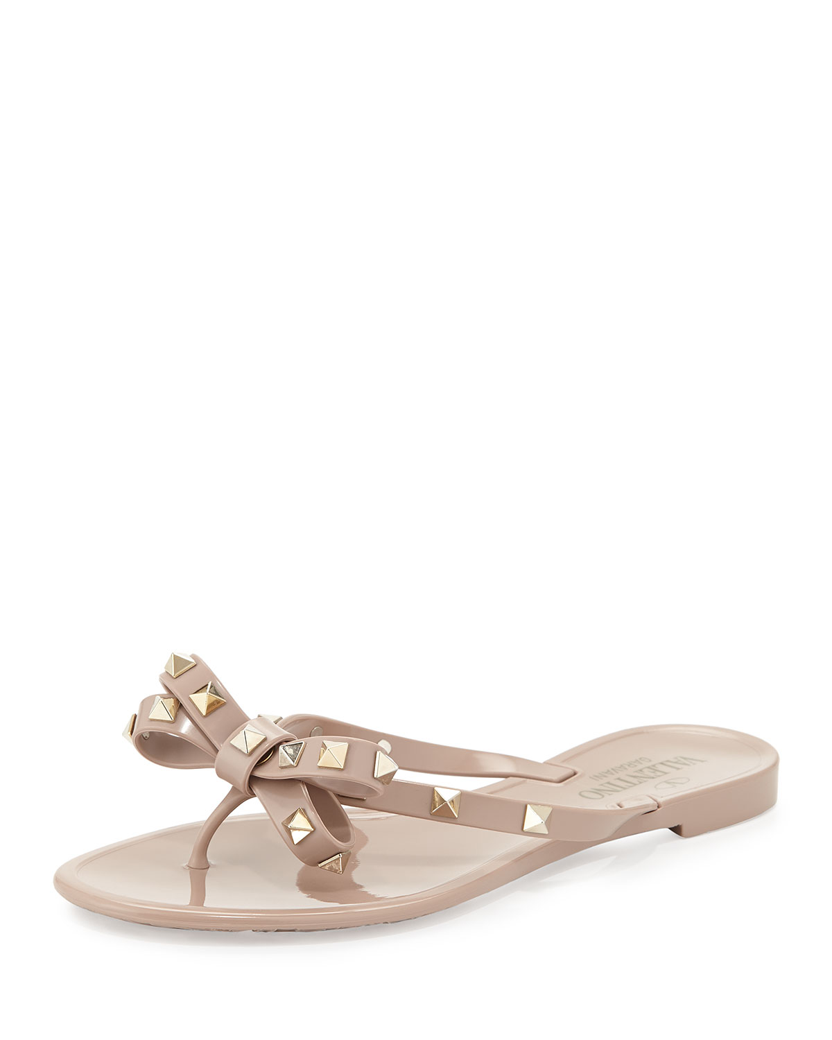 Valentino Sandals - Rockstud PVC Flip Flop Poudre - - Sandals for ladies Outlet Footlocker Finishline Outlet Cheap Factory Outlet Discount Pay With Visa wxnDL