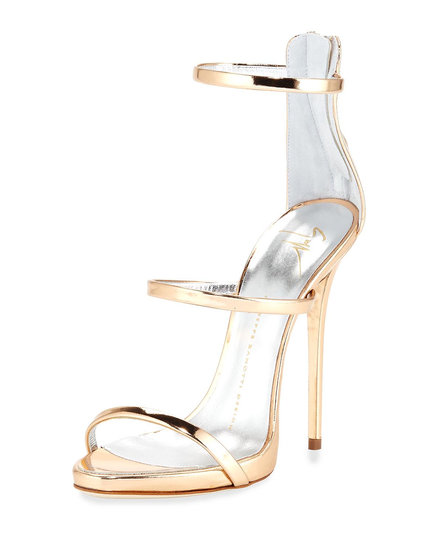 Ramino sandals - Metallic Giuseppe Zanotti GJ6Io