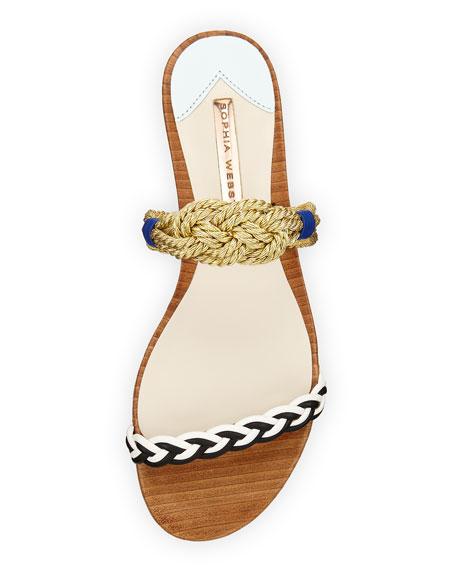 Celeste Nautical Flat Slide Sandal, Multi