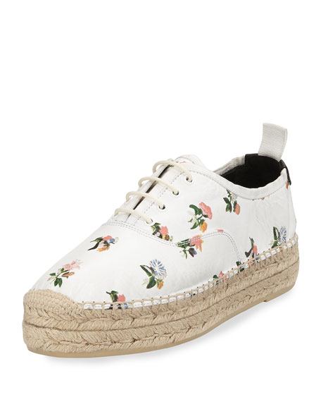 Saint Laurent Grunge Floral-Print Espadrille Sneaker