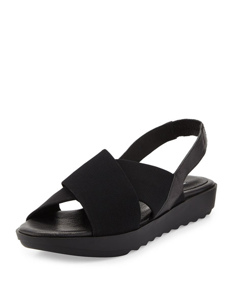 Eileen Fisher Trek Crisscross Wedge Sandal