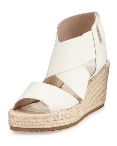 Eileen Fisher Willow Leather Espadrille Sandal, Stone