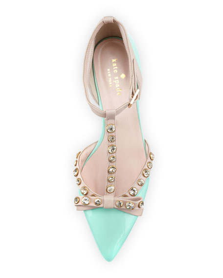 Image 3 of 4: becca jeweled t-strap Ballet Flat