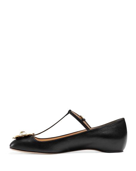 Lexi T-Strap Ballerina Flat, Black