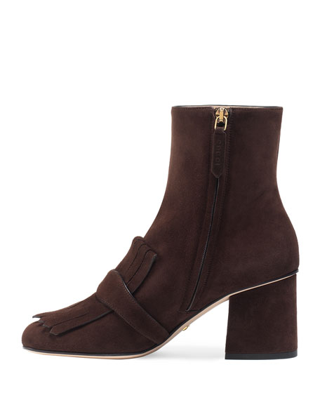 Marmont 75mm Fringe Ankle Boot