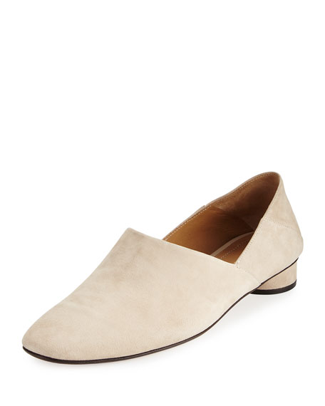 Noelle Suede 30mm Flat, Moonstone
