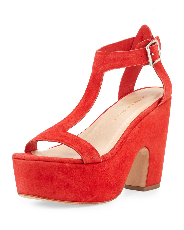 0dda4a0ec7ea Loeffler Randall Minette Suede Platform Sandal