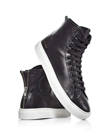 Tournament Leather High-Top Sneakers