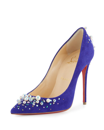 christian louboutin jewel-embellished pumps