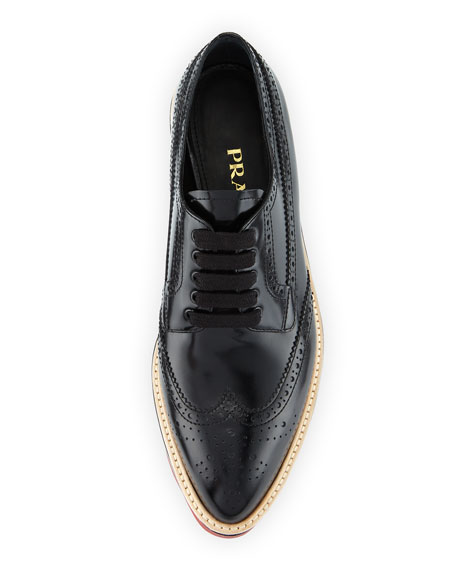 Spazzolato Leather Lace-Up Creeper