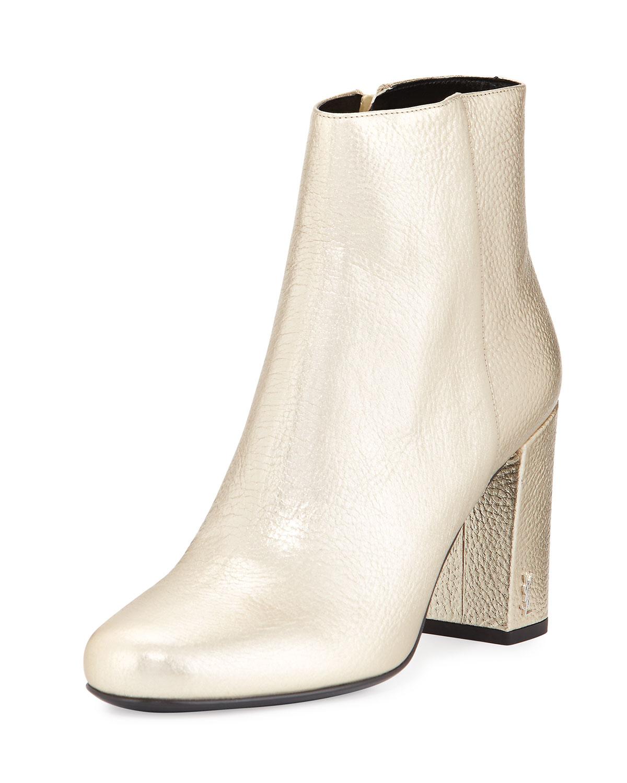 62a74ce69eec Saint Laurent Babies Metallic 90mm Ankle Boot