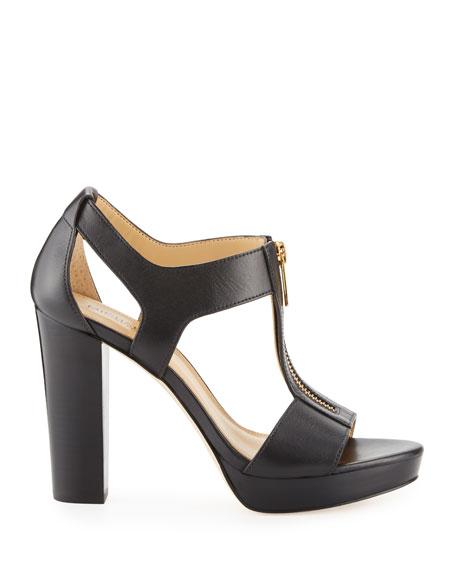 Berkley Leather Zip Sandals