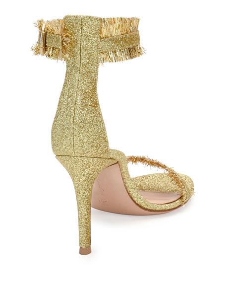 Caribe Fringe Ankle-Wrap 85mm Sandal