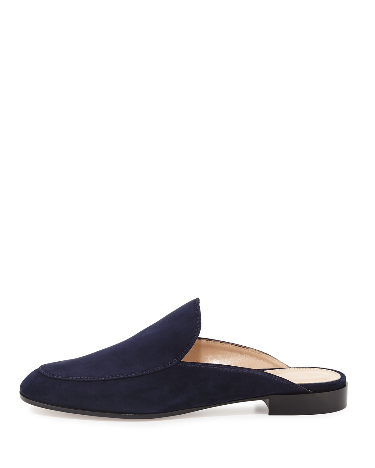 Gianvito Rossi Palau Notched Suede Mule XBE89LZMs