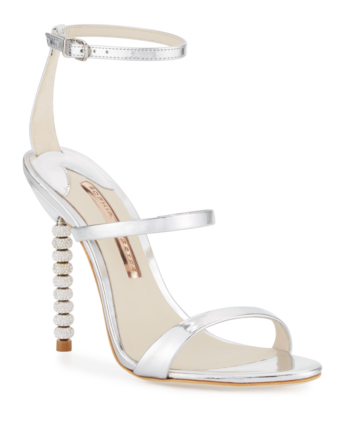 5bbd1f06ad4 Sophia Webster Rosalind Crystal-Heel Leather Sandals