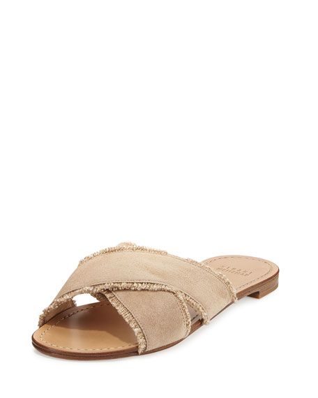 Stuart Weitzman Fringe-Trimmed Flats best cheap price outlet 2015 cheap sale new styles BU2Bww