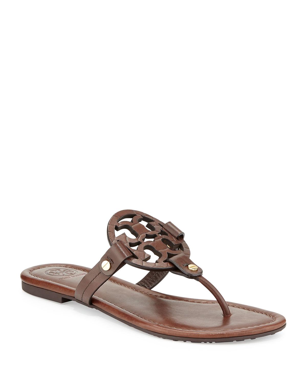 99bdd02778af12 Tory Burch Miller Logo Flat Sandal