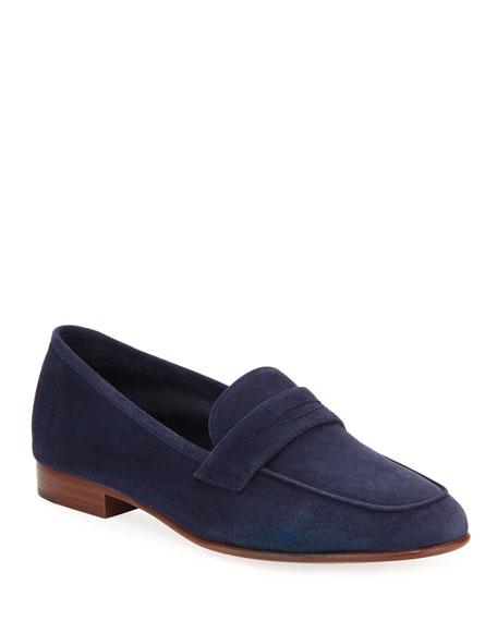 Mansur Gavriel Classic Flat Suede Loafer
