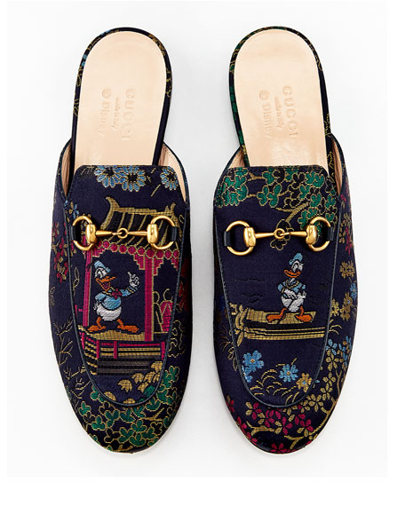 gucci donald duck mules