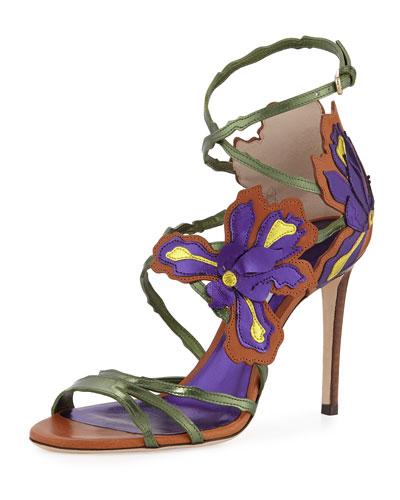 cf700208d9bb Jimmy Choo Lolita Floral Strappy 100mm Sandal