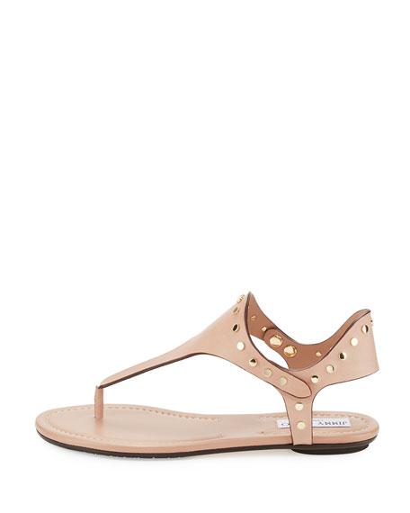 Dara Studded T-Strap Sandal