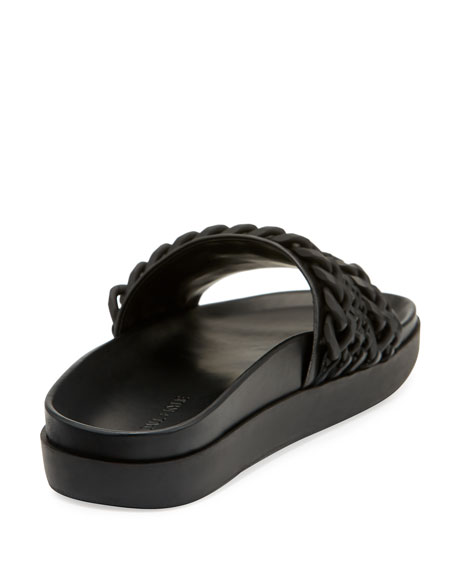 Shiloh Chain-Trim Slide Sandal
