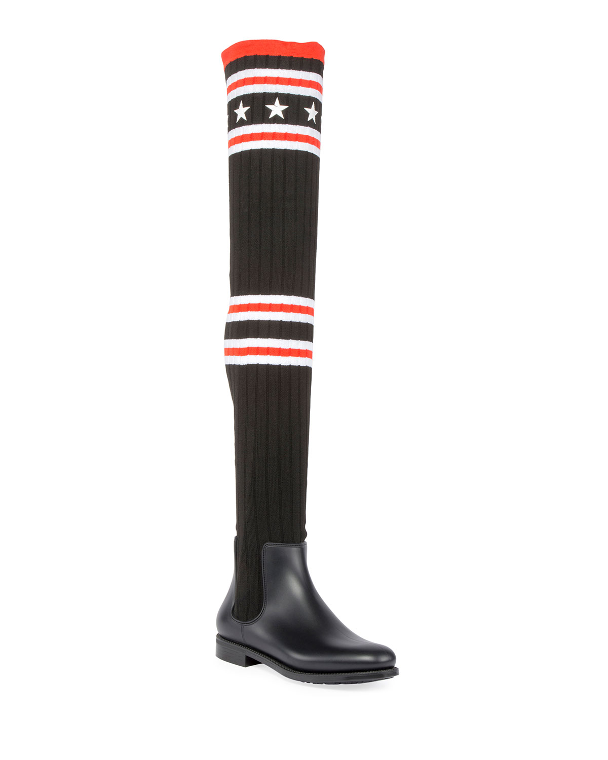 364d322c5 Givenchy Over-the-Knee Rubber Sock Boot