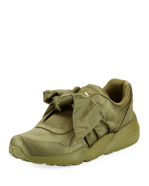 7cead2aaeb393c Fenty Puma by Rihanna Trinomic Knotted Bow Satin Sneaker