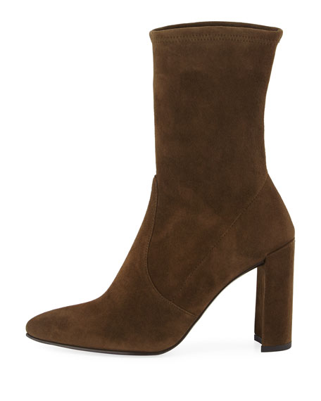 Clinger Stretch-Suede Bootie