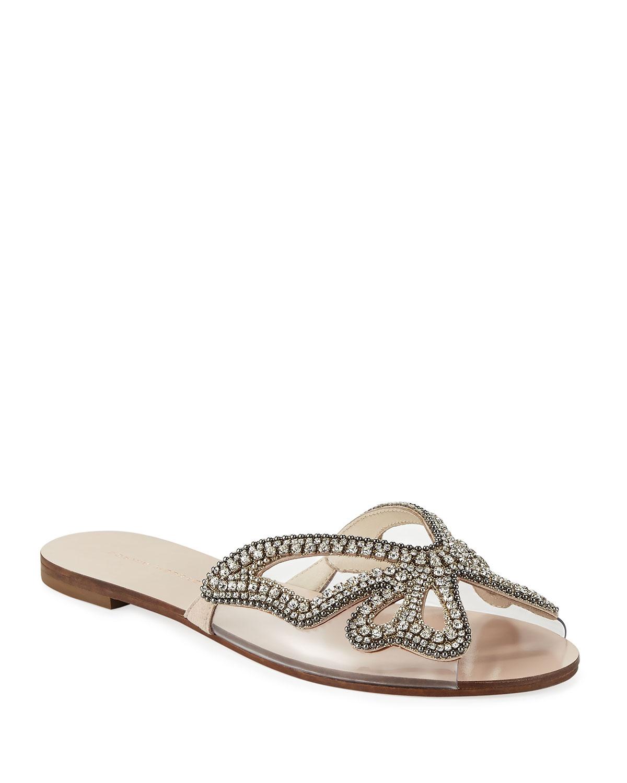 9c61c2208f88 Sophia Webster Madame Crystal Butterfly Flat Slide Sandals