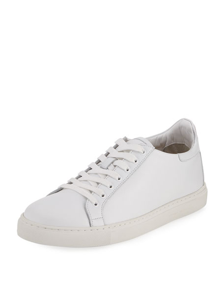 Bibi Butterfly Low-Top Leather Sneaker, White