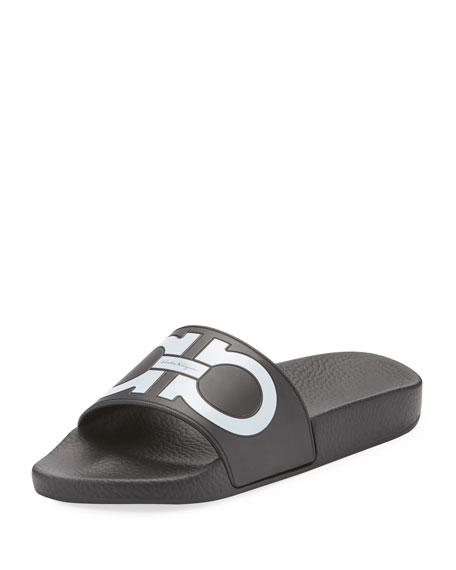 Salvatore Ferragamo Pool Slide Sandal, Black