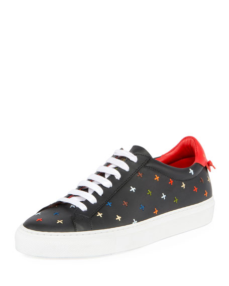 Givenchy Urban Street Knots Low-Top Sneaker, Black/Red