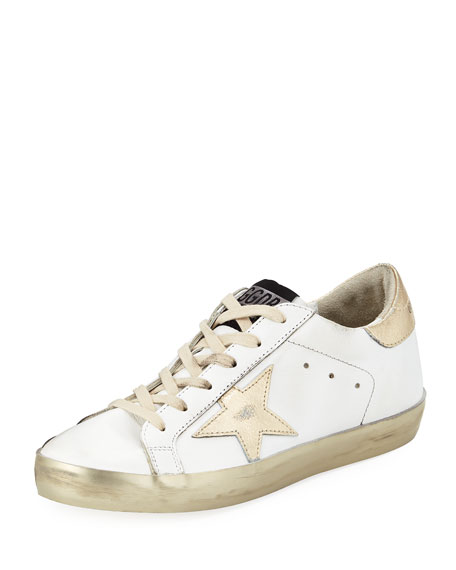 Distressed Leather Star Sneakers