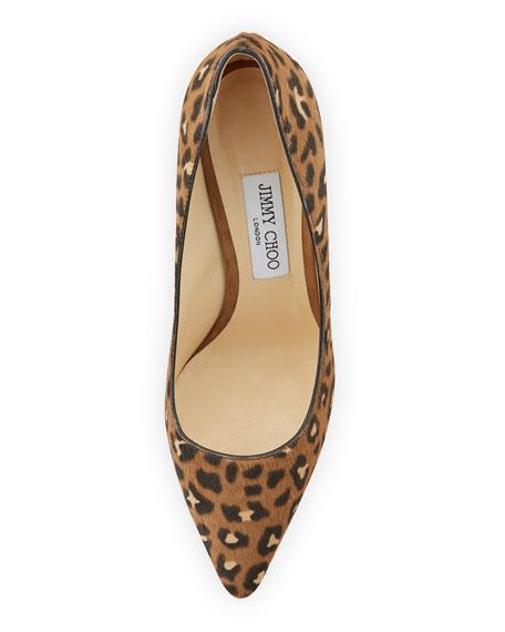 Romy Leopard Calf Hair Pump