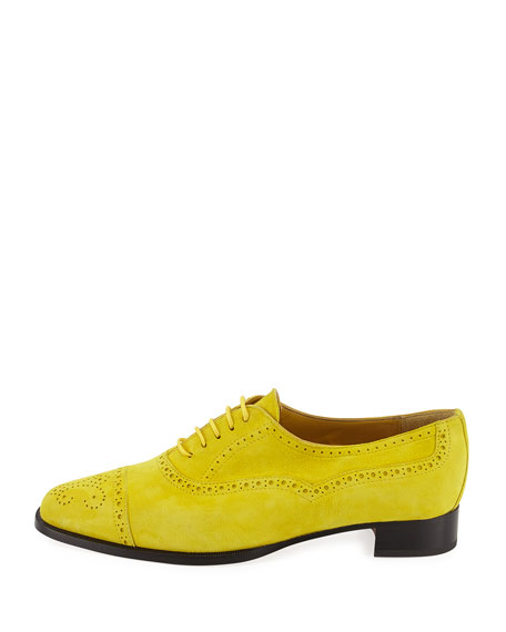 Bath Suede Brogue Oxford