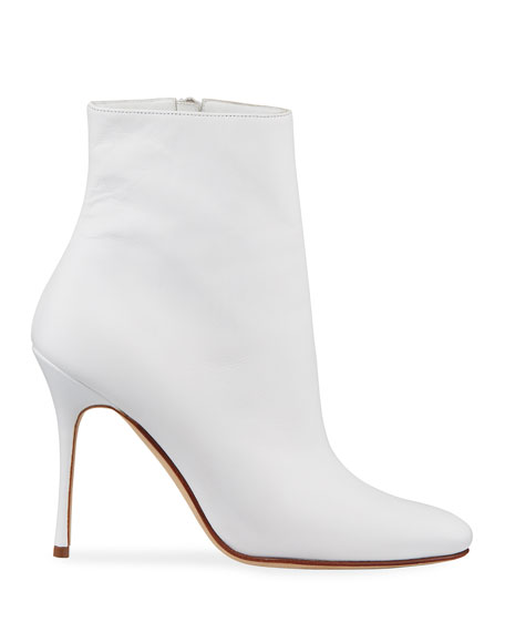 Insopo Leather Zip Booties
