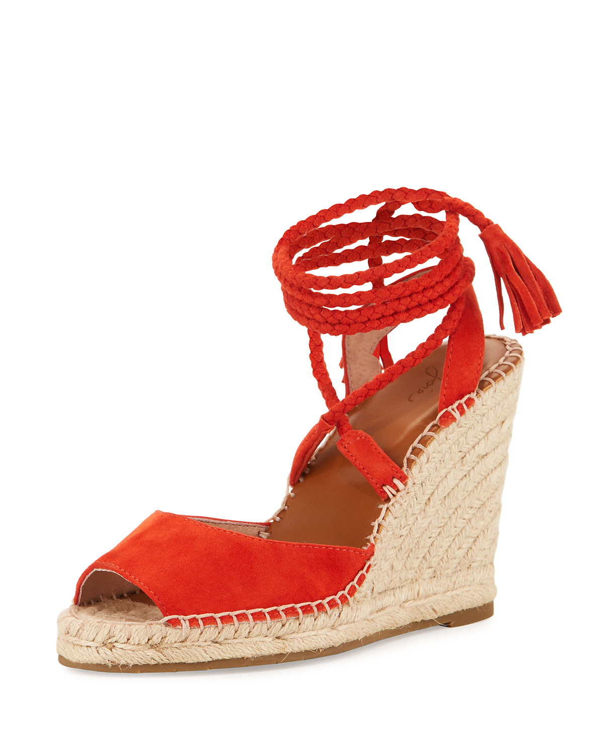 8eec18c1c3a Joie Phyllis Suede Lace-Up Wedge Espadrille Sandal