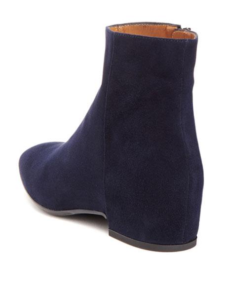 Ulyssa Waterproof Suede Ankle Boots with Hidden Wedge